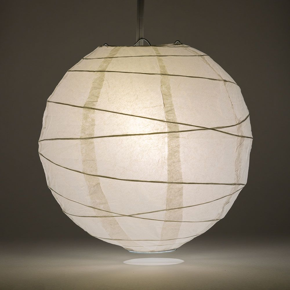 20 White Round Paper Lantern Crisscross Ribbing Chinese Hanging Wedding Party Decoration Round Paper Lanterns Paper Lanterns White Paper Lanterns