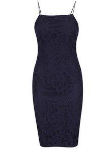 Tmavomodré šaty s tenkými ramienkami AX Paris 11b90d11cd