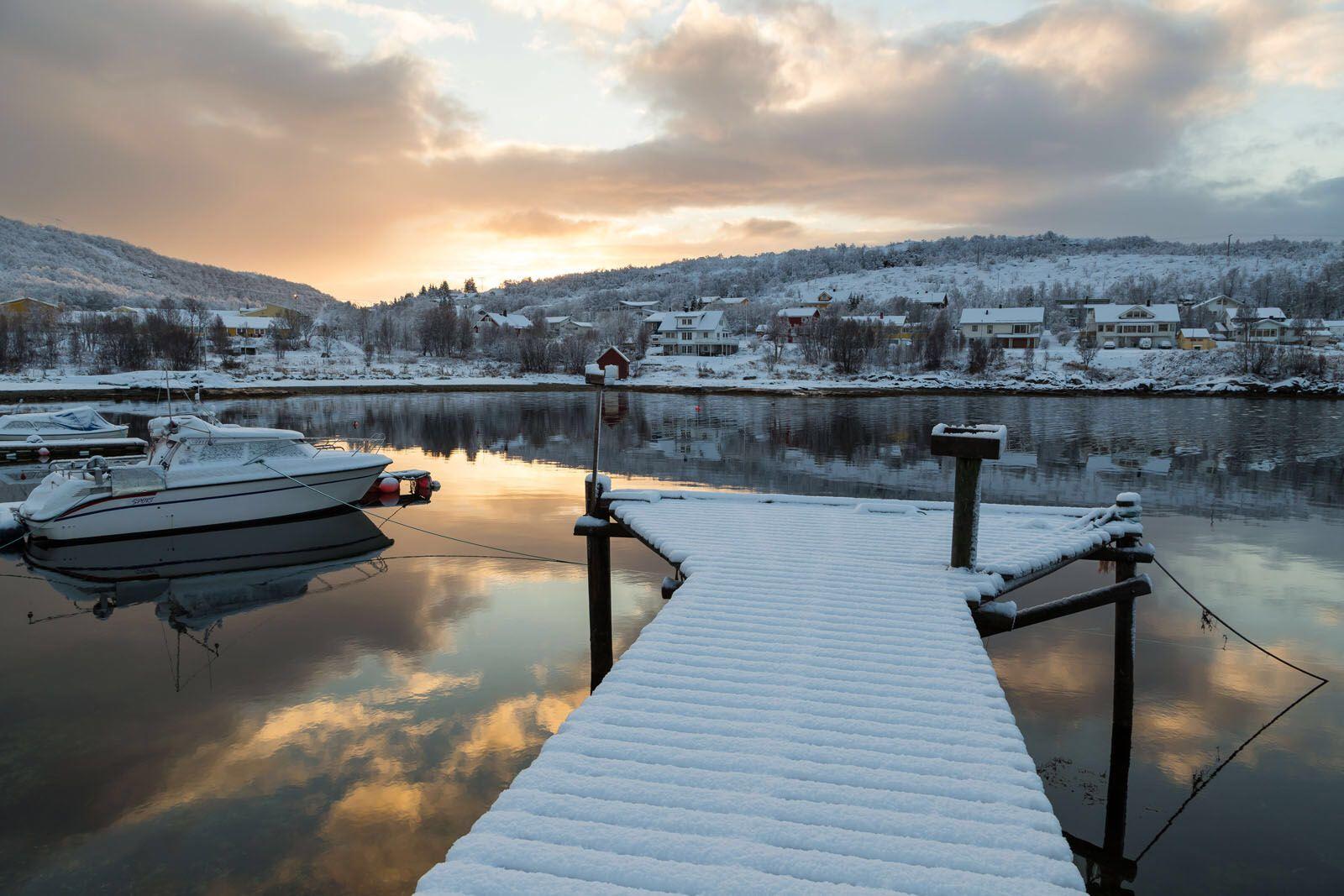 Winter Fjord, Kaldfjord, Troms, Norway