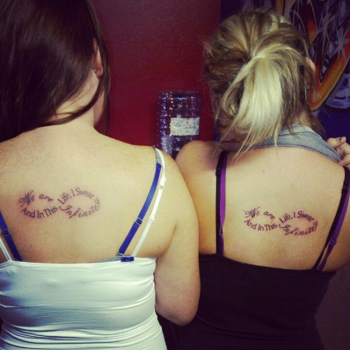 Cousin Tattoos *and In This Life I Swear. We Are Infinite
