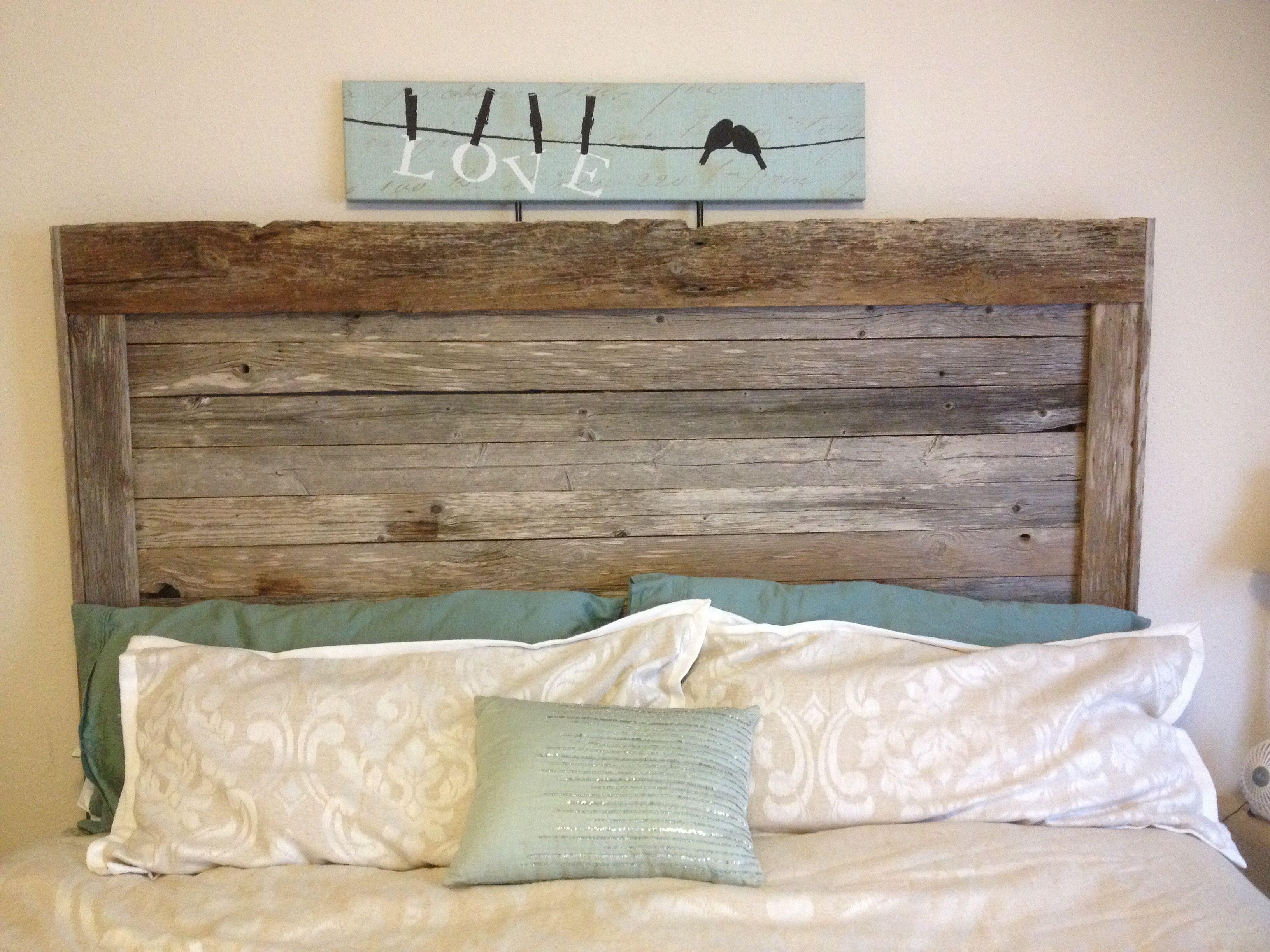 Barn Wood Headboard Made By My Husband Headboards For Beds