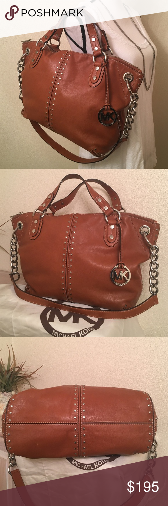 cf35e7df22c0 Spotted while shopping on Poshmark  Michael Kors Uptown Astor Satchel in  luggage.!