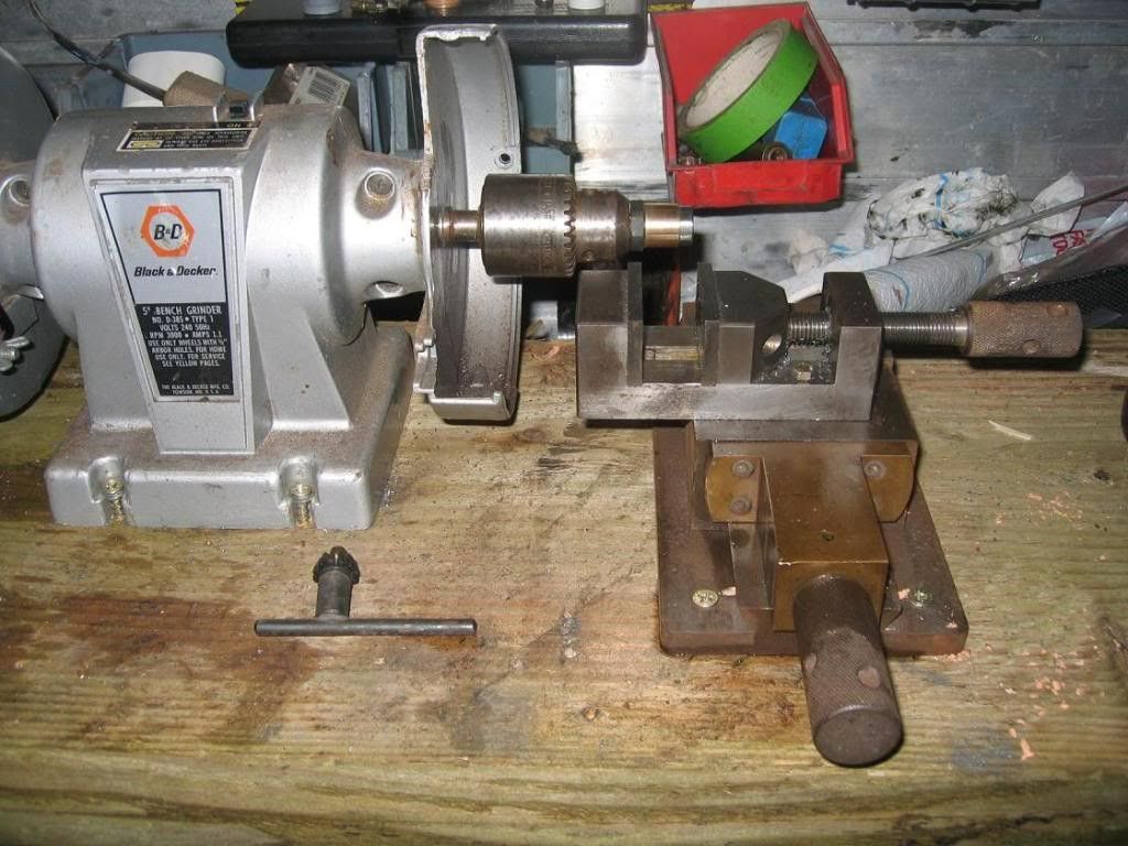 Homemade Bench Grinder Part - 36: Lathe By Daved -- Homemade Lathe Powered By A Repurposed Bench Grinder  Retrofitted With A