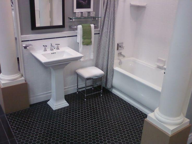 Brilliant 0 Bathroom With Hexagon Tiles Black Hexagonal Tile Bathroom Floor bathrooms with hexagon tile bathrooms with hexagon tile floors - black and white hexagon tile bathroom