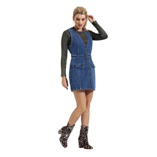 be18163b304 Denimdress. Denim Zip Front Mini Dress.  denimdays