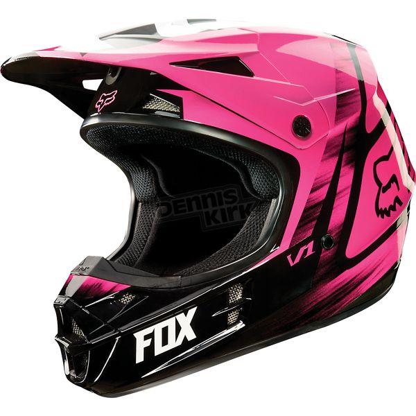 Fox Pink V1 Vandal Helmet - 11018-170-L ATV Dirt Bike