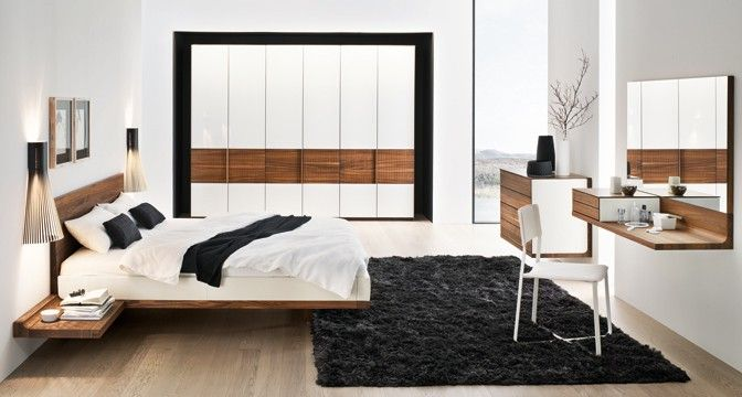 riletto Bett von TEAM 7 aus Naturholz mit Kopfhaupt optional in - schlafzimmer feng shui farben