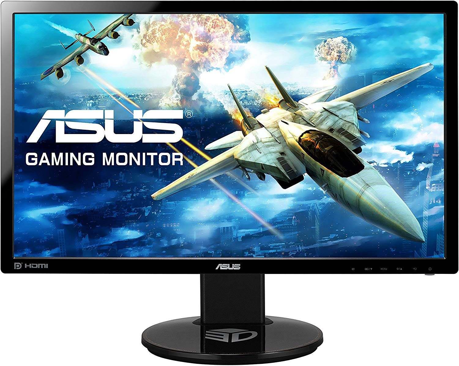 Asus Vg248qe 24 Inch Fhd 1920 X 1080 Gaming Monitor 1 Ms Up To 144 Hz Dp Hdmi Dvi D Amazon Co Uk Computers Accessories Monitor Asus Lcd Monitor