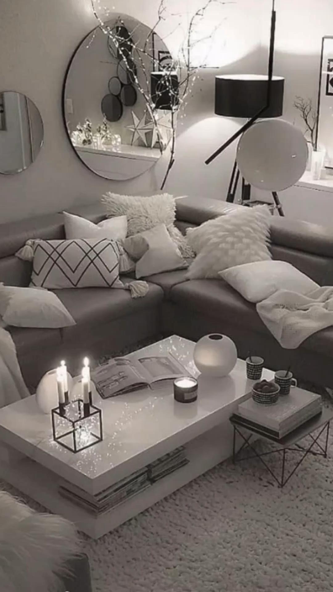 47 Charming Gray Living Room Design Ideas For Your Apartment | Gray living room design, Living room decor apartment, Elegant living room design
