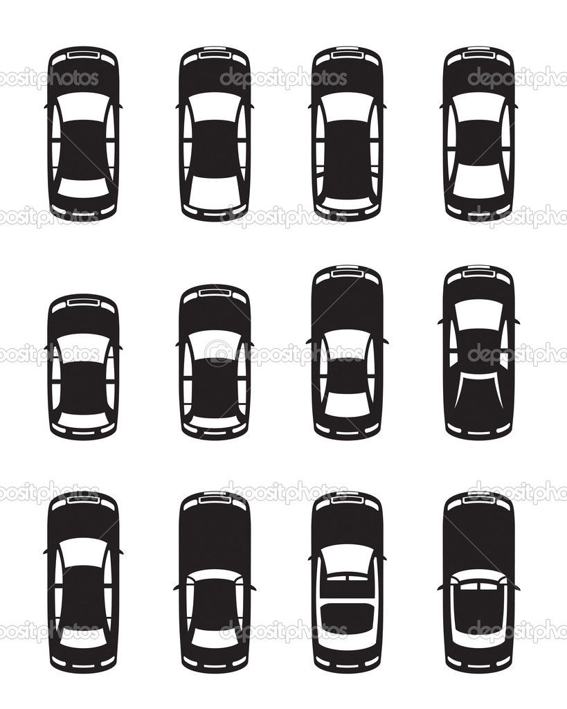 Different cars seen from above — Stock Vector © angelha