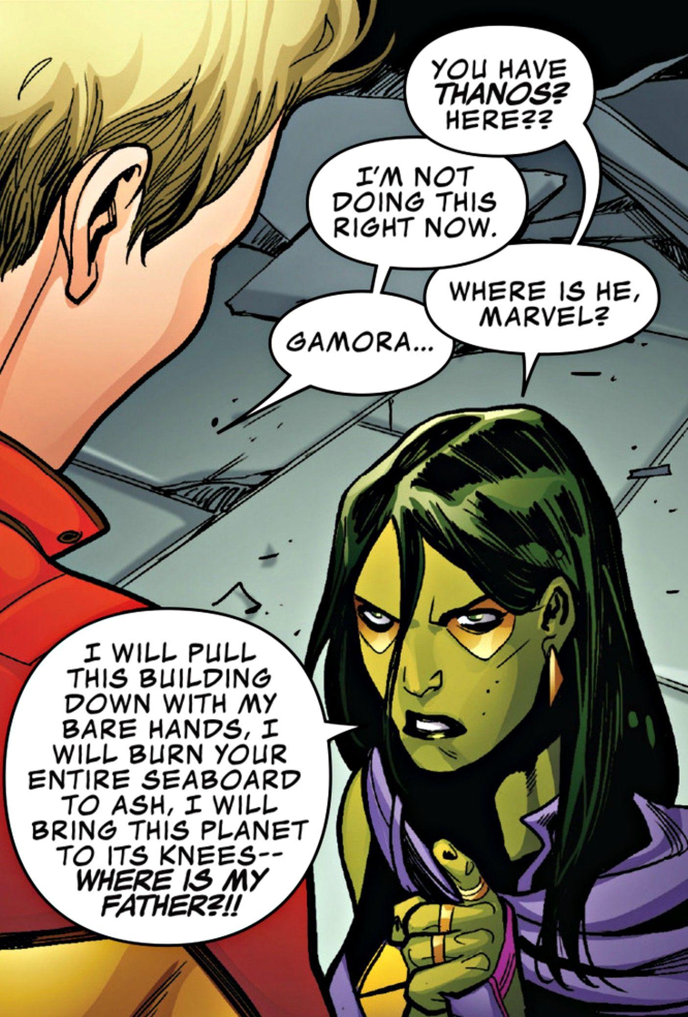 "Captain Marvel vs Gamora  ""Guardians of the Galaxy (2015) #13"""