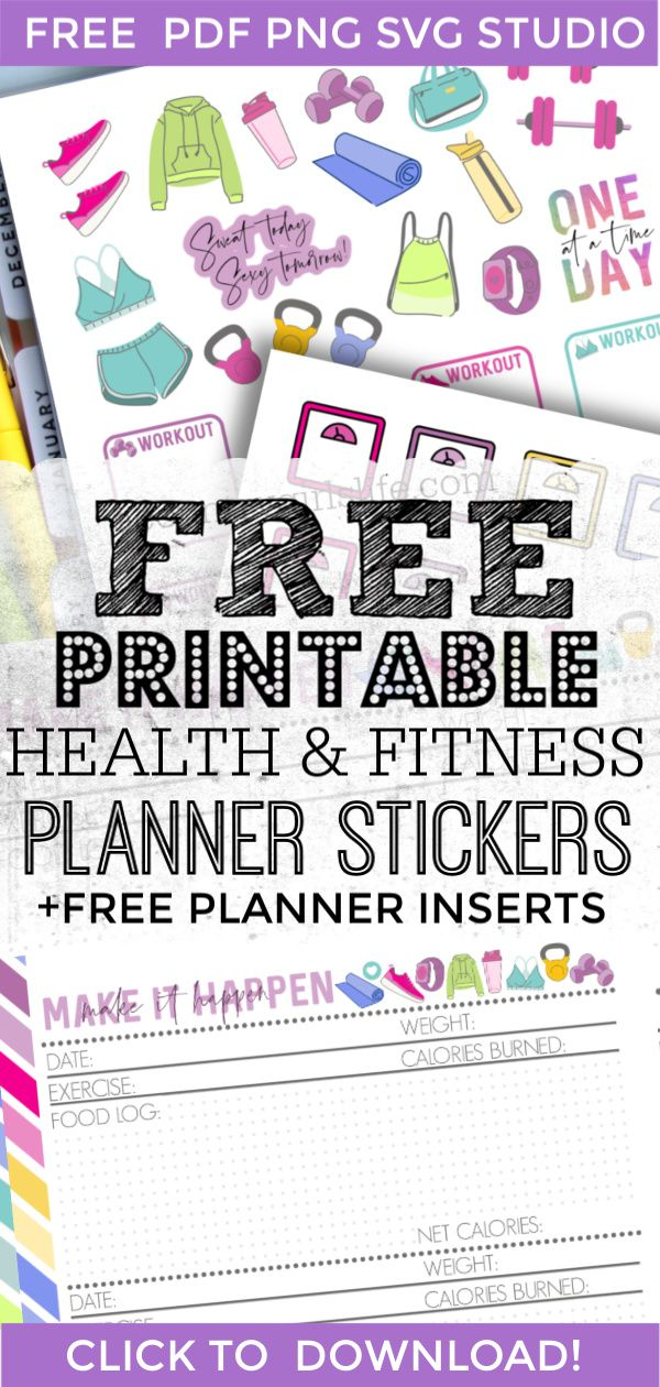 FREE Printable Digital DIY Planner Decorating Stickers for the Happy Planner or Erin Condren! -   fitness Planner mambi
