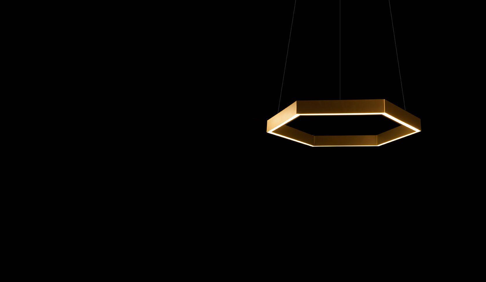Brass 750 Hex pendant - Resident Studio