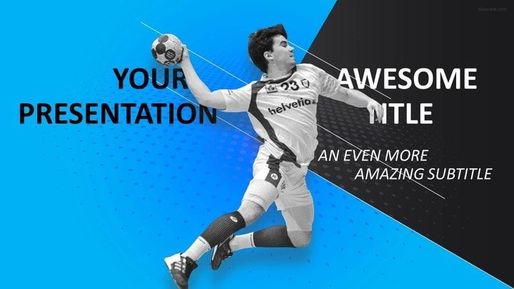 Sports  Mega Powerpoint Template  Handball