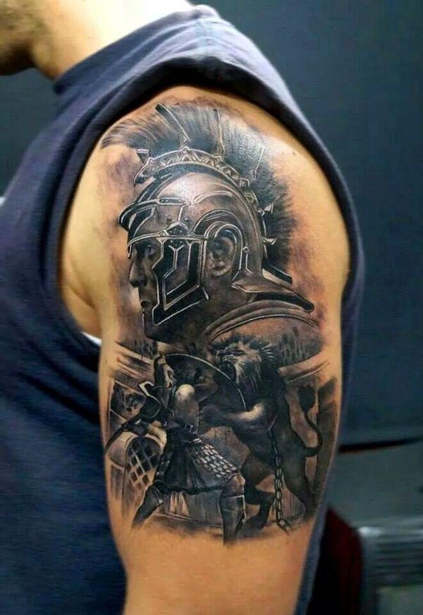 cbb36dea2 40 Strong and Perfect Warrior Tattoos | Warrior tattoos | Warrior ...
