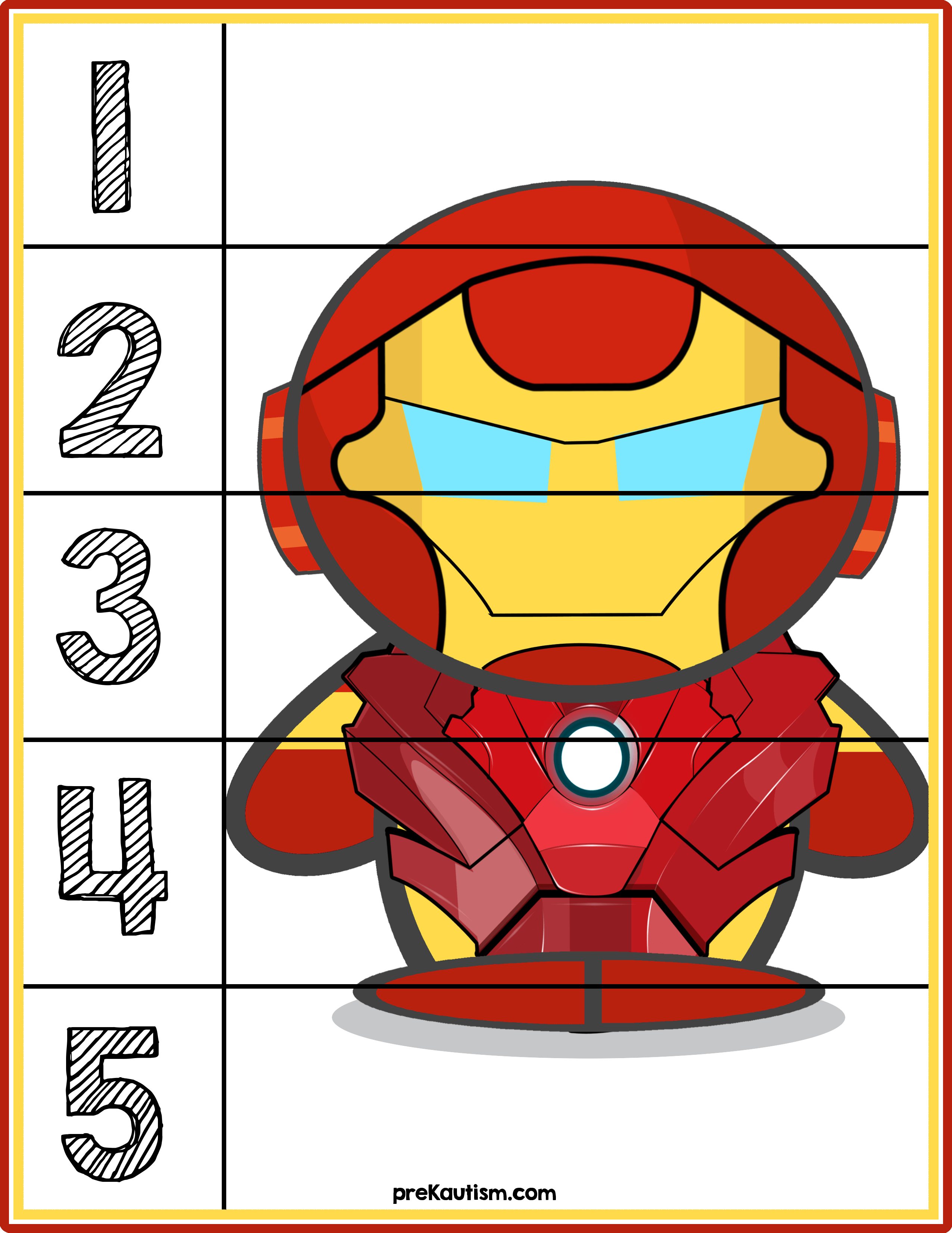 Ironman 1 5 Counting Puzzle