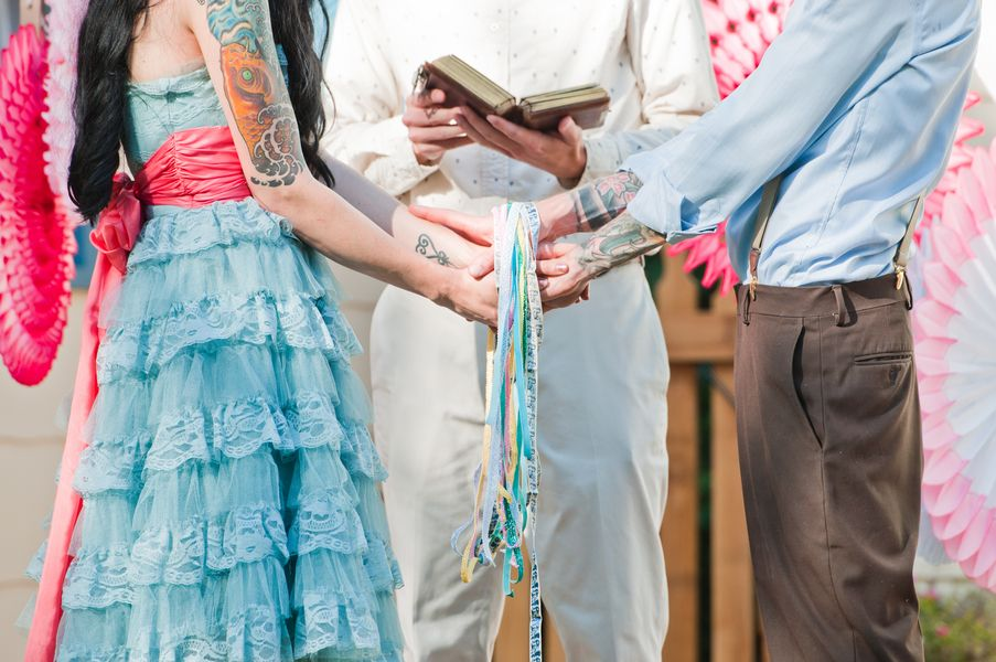 Handfasting Traditionally An Irish Custom A Ceremony Involves Lightly Binding Together The S