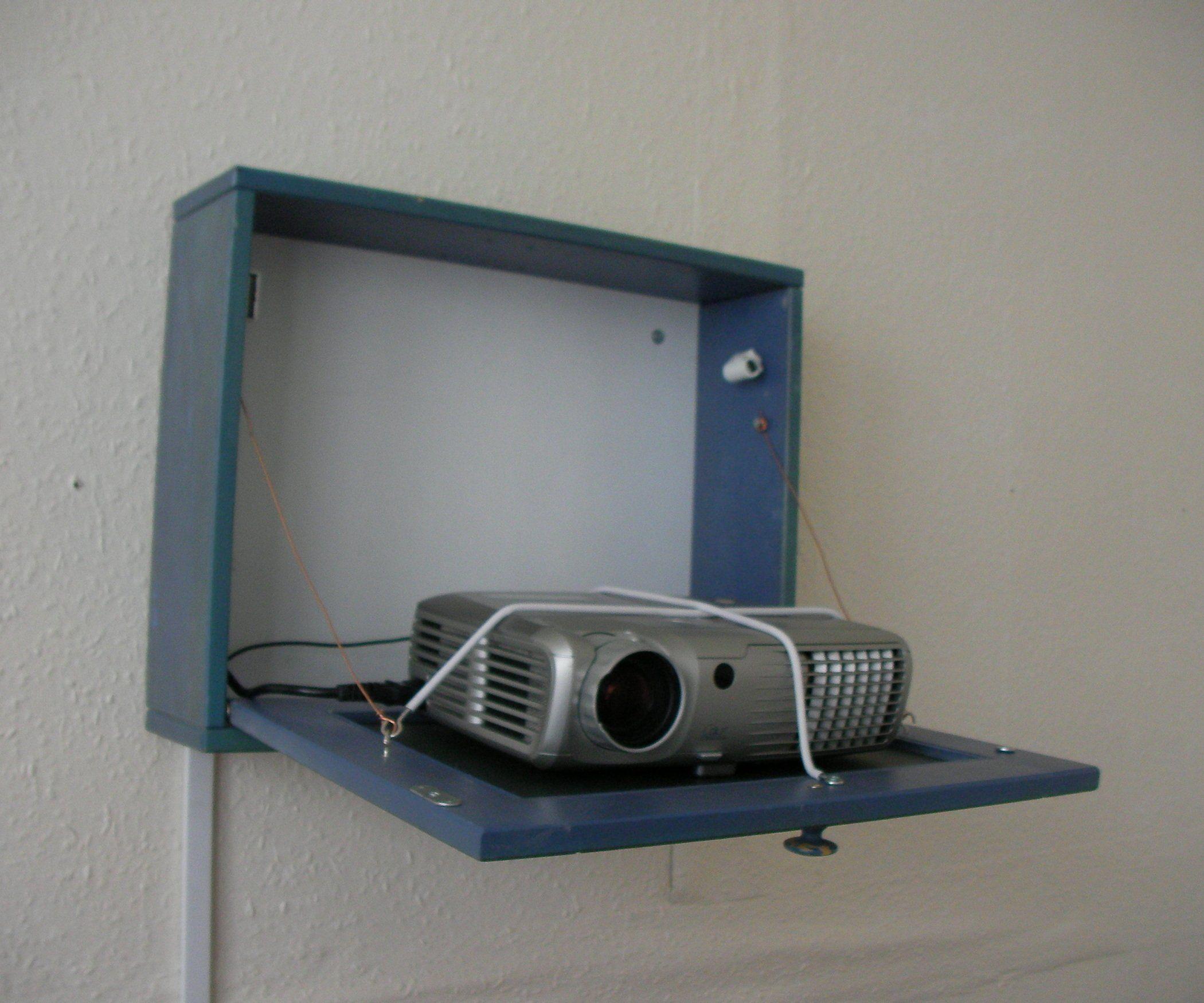 Theater Room With Hidden Projector: Projector Hidden Cabinet