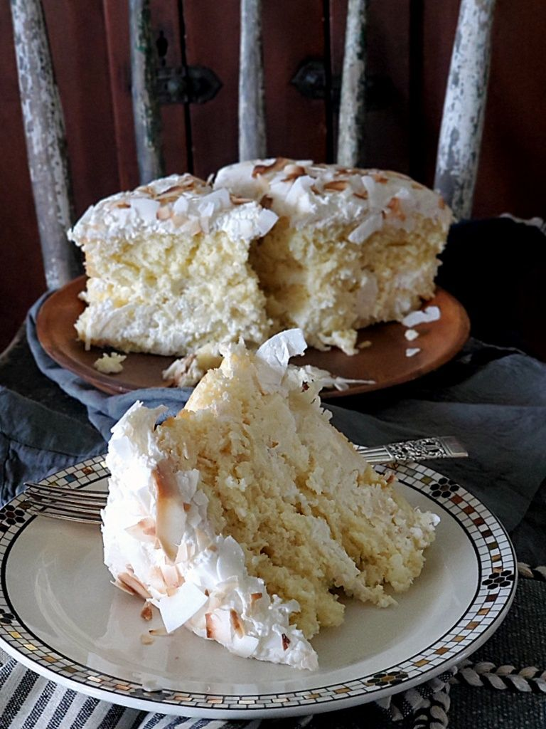 Easy Sour Cream Coconut Cake Coconut Cake Coconut Cake Recipe Recipe In 2020 Sour Cream Coconut Cake Coconut Cake Sour Cream
