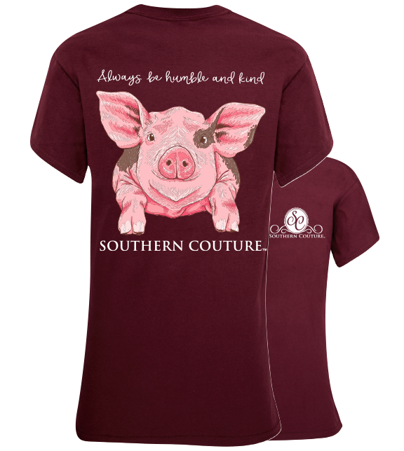 Southern Couture Don/'t Go Bacon My Heart Pig Front Print Girlie Bright T Shirt