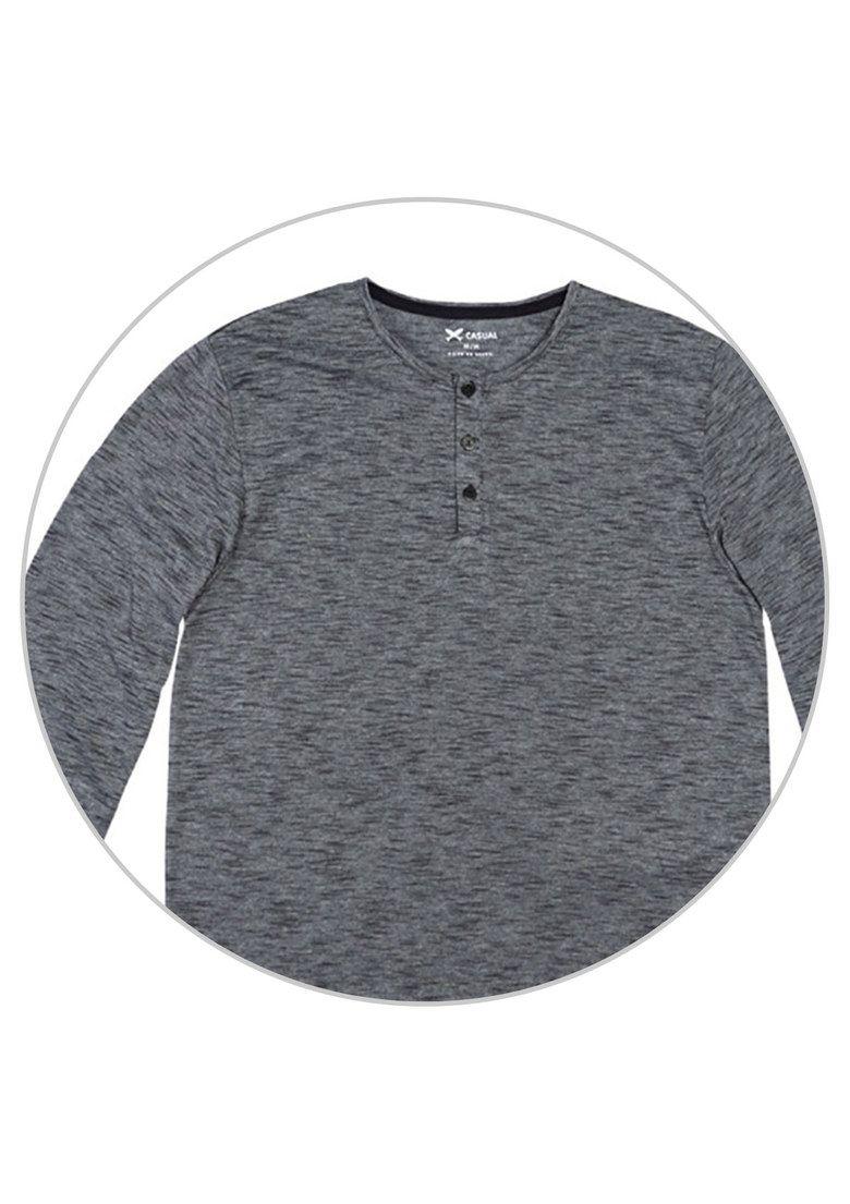 Camiseta Básica Masculina Regular Hering Com Manga Longa  7659803bedea4