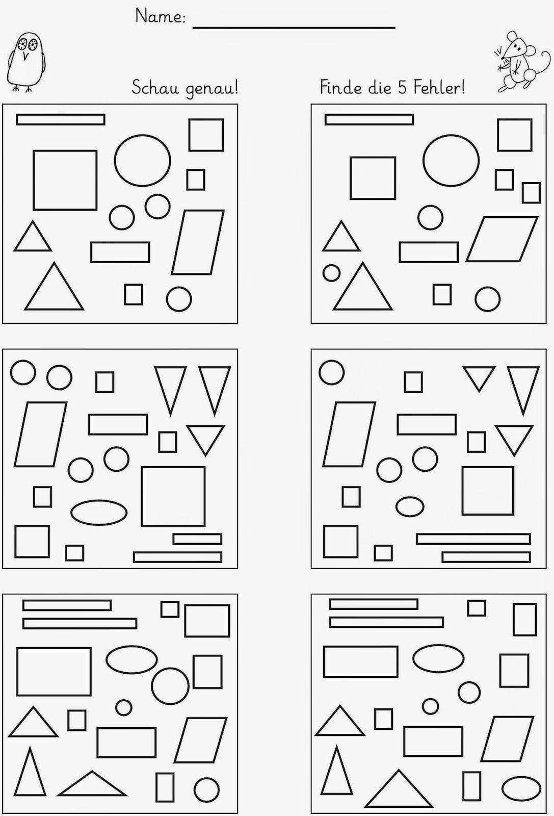 hier vier Arbeitsblätter zum Unterschiede finden LG Gille Schrift ...