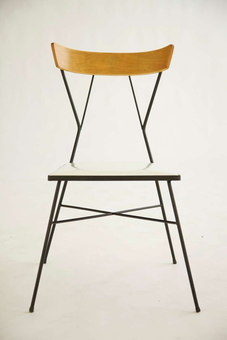 Paul McCobb; Wrought Iron and Wood Chair for Arbuck, c1935.