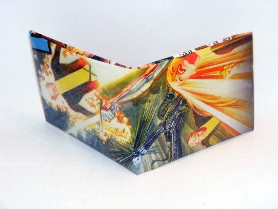 Comic Book Wallet// New Mutants// Canonball, Warlock, Cypher, and Magik, $3.50