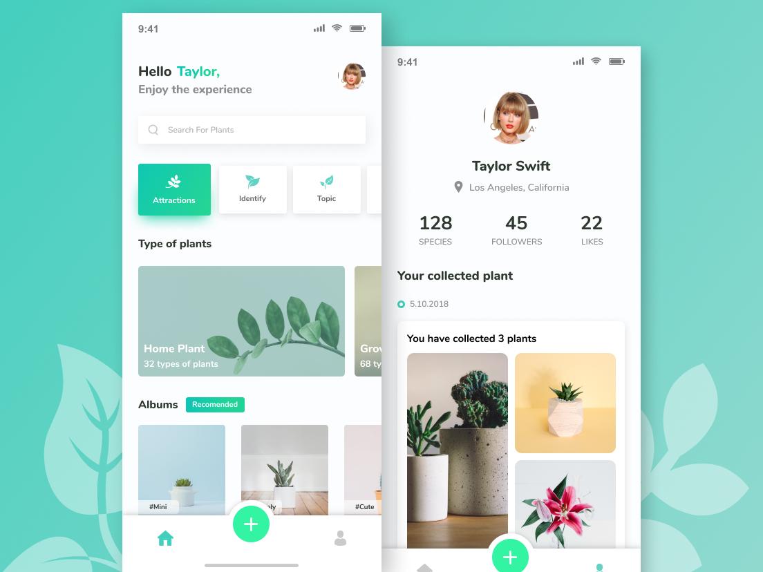 Social Media Plant App Plant App Creative App Design App Design
