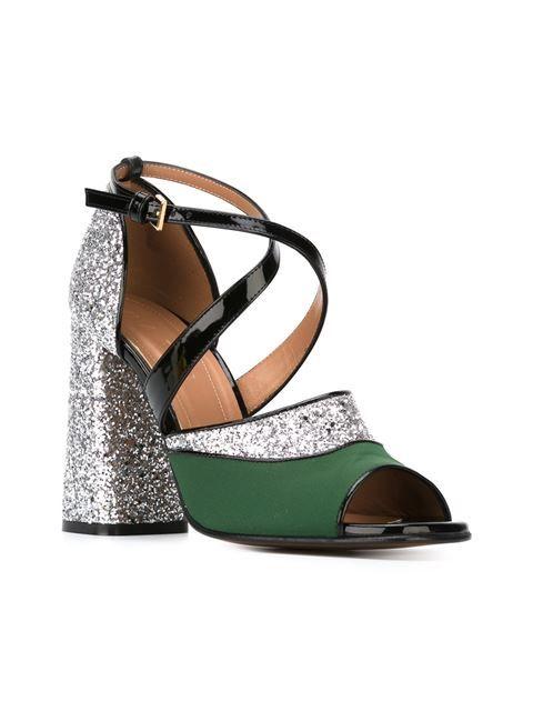 Marni 'One Band' glitter sandals