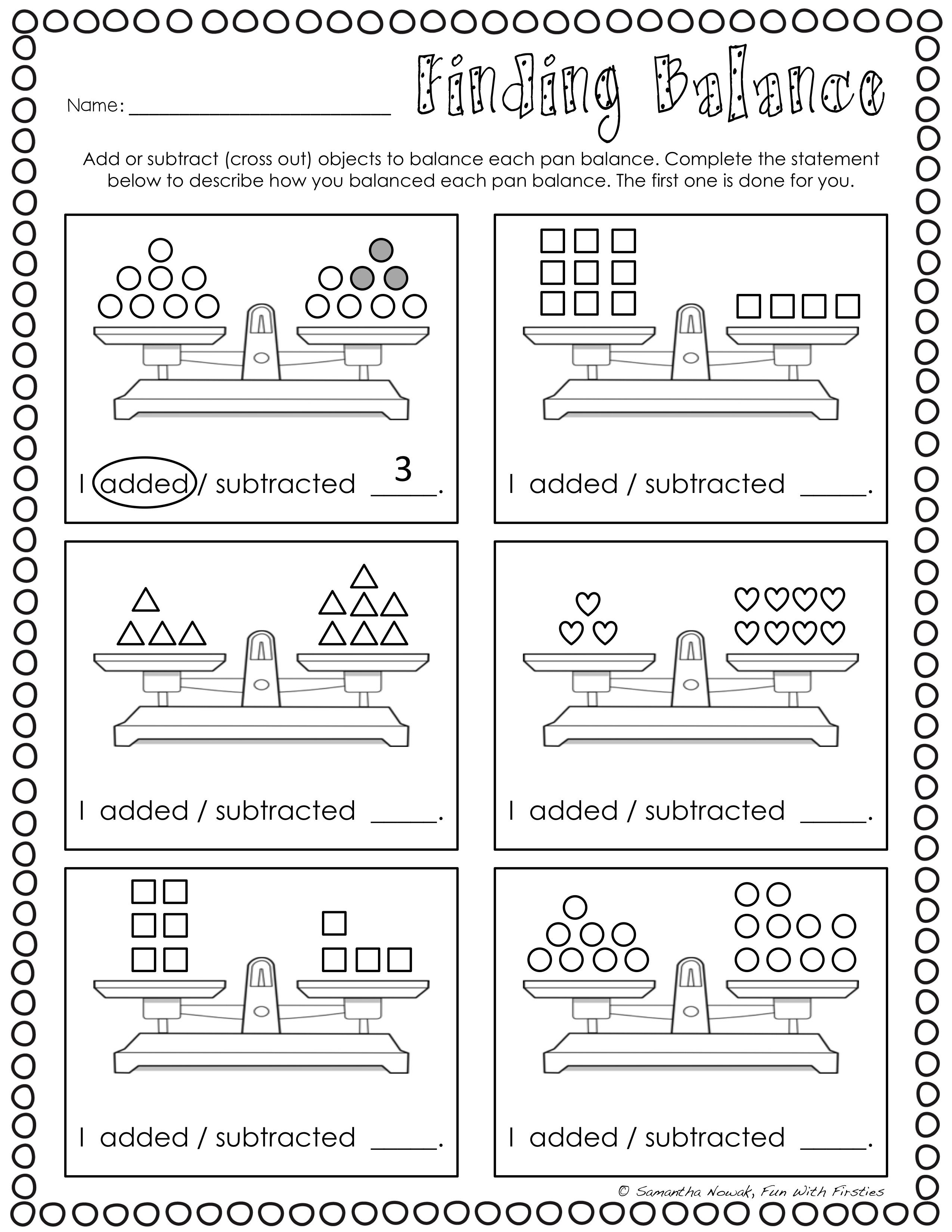 hight resolution of Balancing Equations: Print \u0026 Go! worksheets for extra practice and/or  assessment   Balancing equations