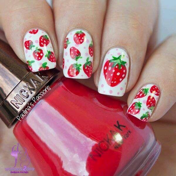 Strawberry Nail Art Design S Fashion Trend Winter 2017