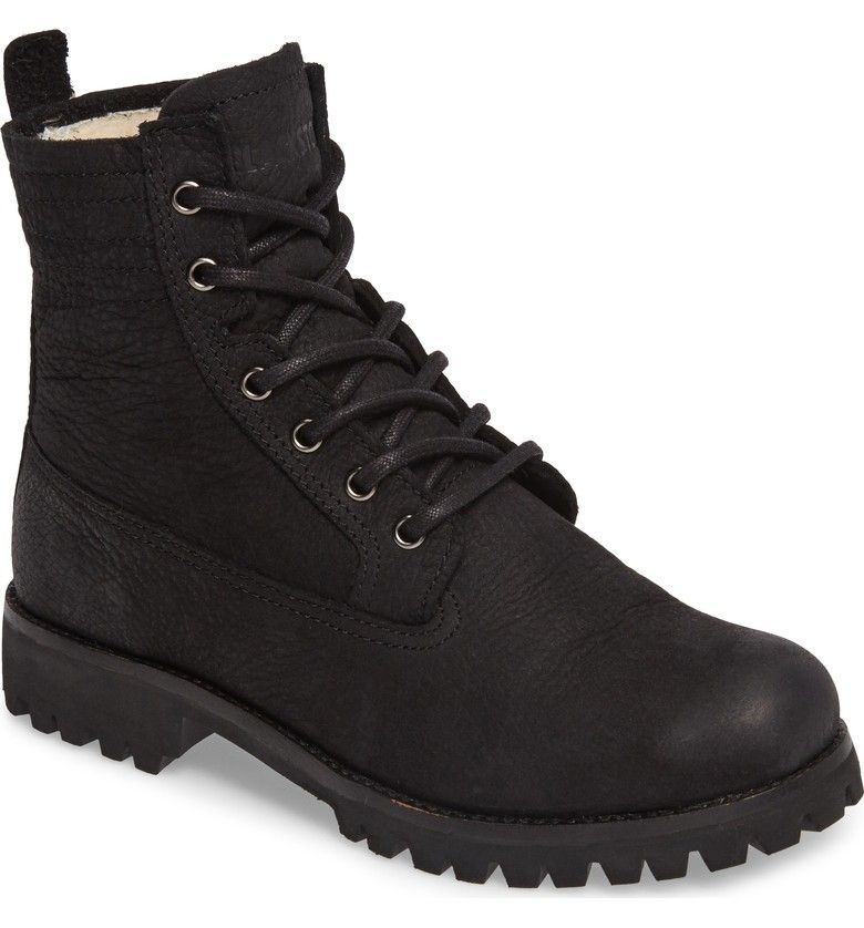 Blackstone Women's Ol22 Lace-Up Boot With Genuine Shearling Lining vejHKK