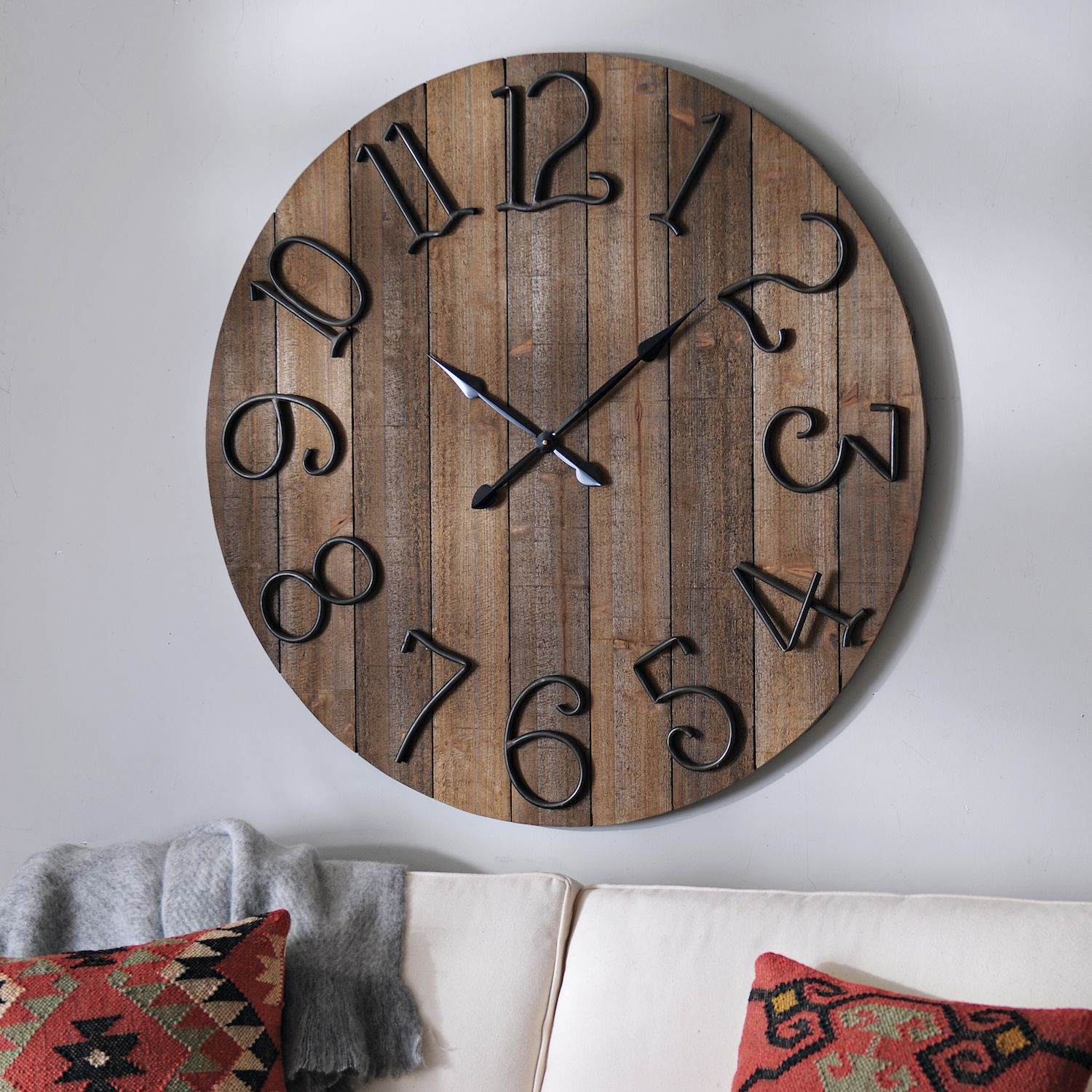 Our All Time Favorite Rustic Spaces: Product Details Delilah Wooden Wall Clock