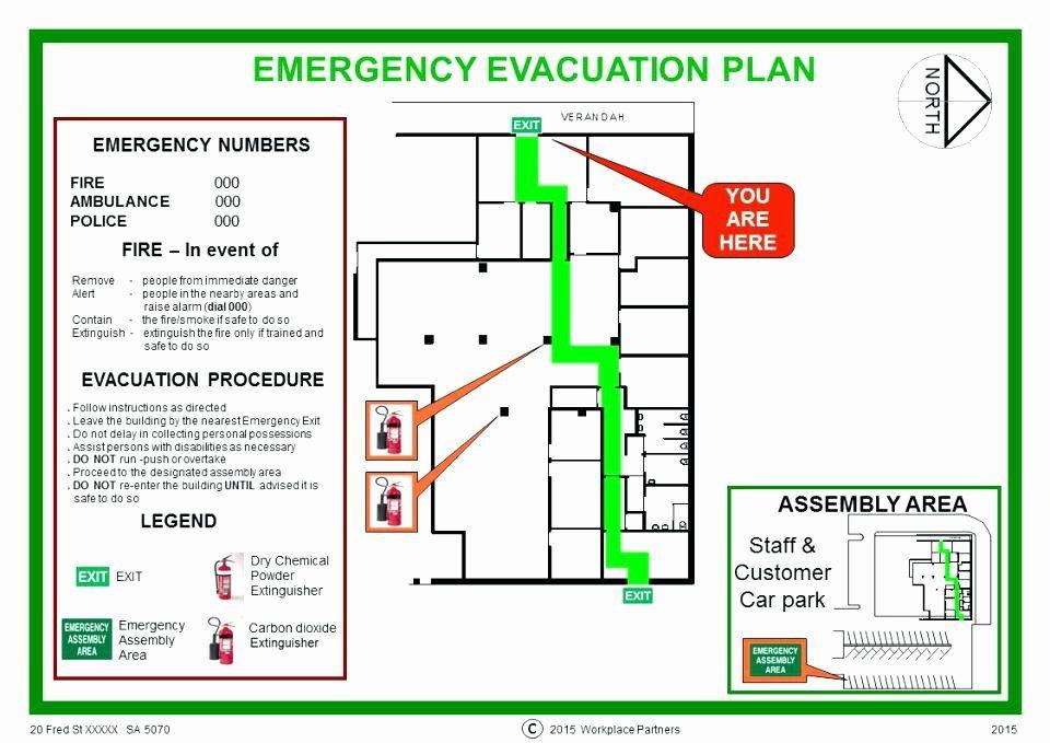 Home Evacuation Plan Template in 2020 Evacuation plan