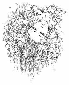 Девушка | Феи раскраска, Раскраски, Рисунки