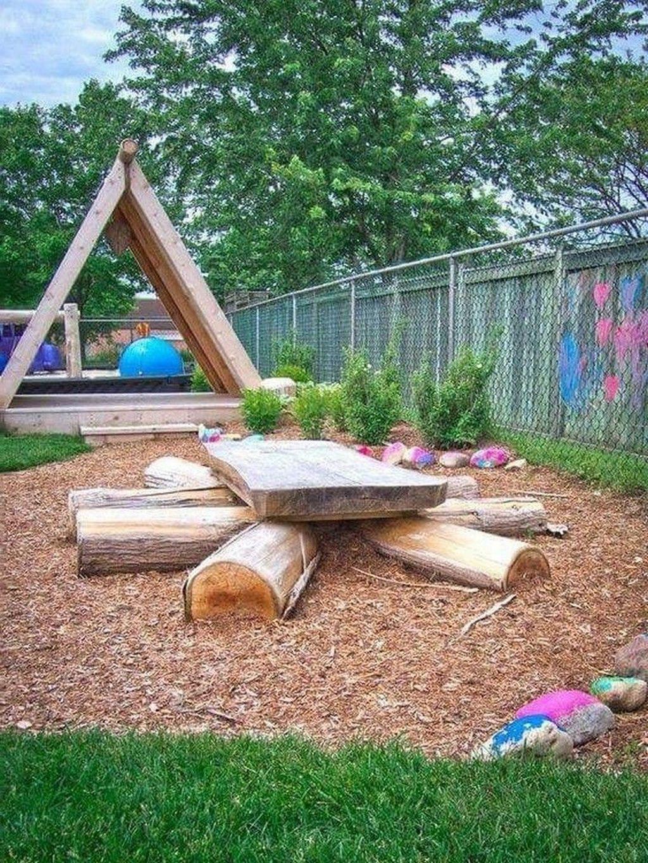 45 Cozy Garden Design Ideas For Kids Play Spaces Natural Playground Backyard Garden Small Garden Design