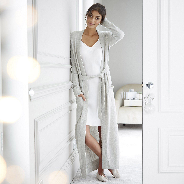 d6c0d22b68dd Cashmere Robe - Silver Grey Marl