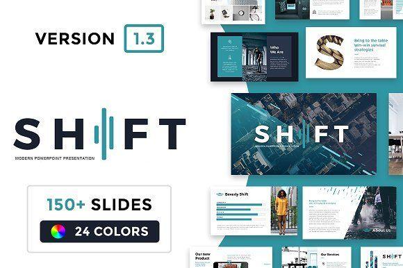 Shift Modern Powerpoint Template Presentation Templates Business