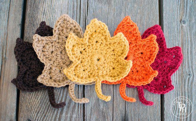 Fall maple leaves free crochet pattern fall leaves crochet fall fall leaves free crochet pattern 10 dt1010fo