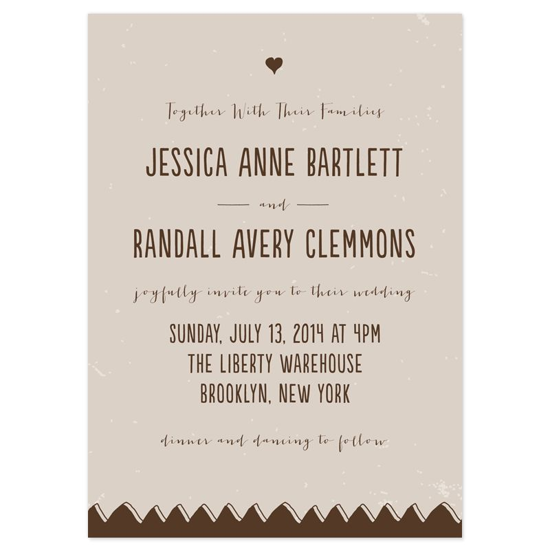 Together Our Families Wedding Invitation Wording