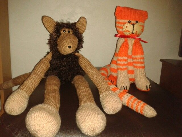 My 2 knitted friends