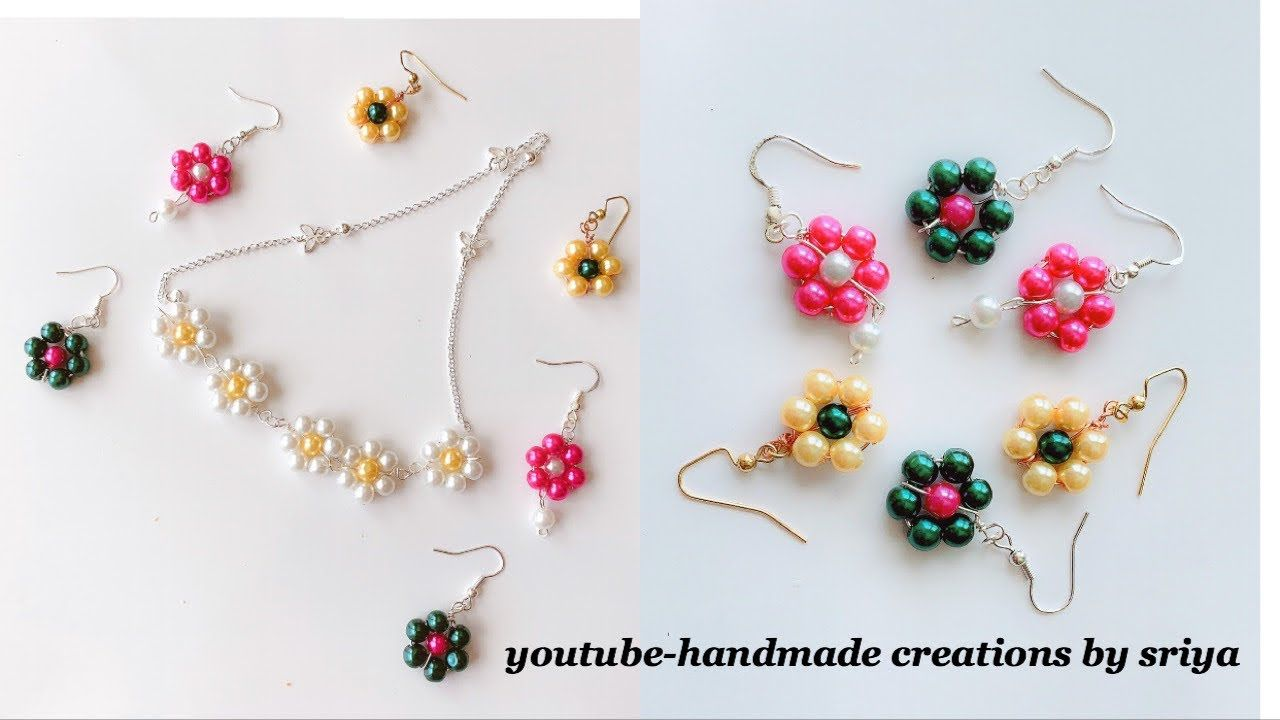 How To Make Simple And Beautiful Pearl Earrings At Home Diy Pearls Jewelry Making Youtube