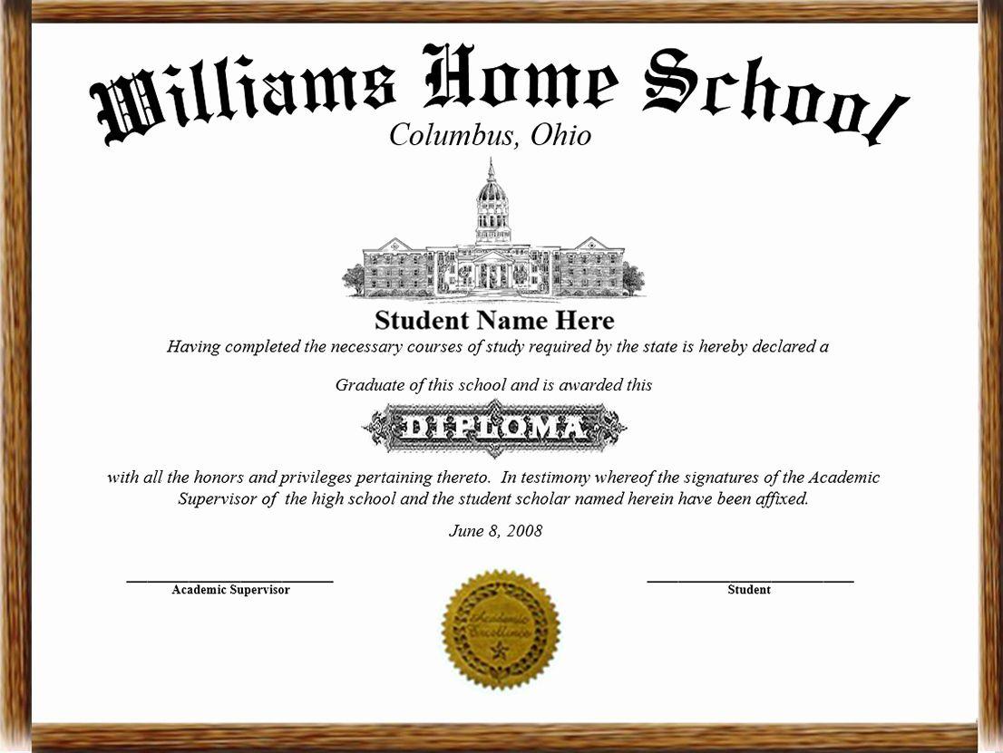 Printable High School Diploma Unique High School Diploma