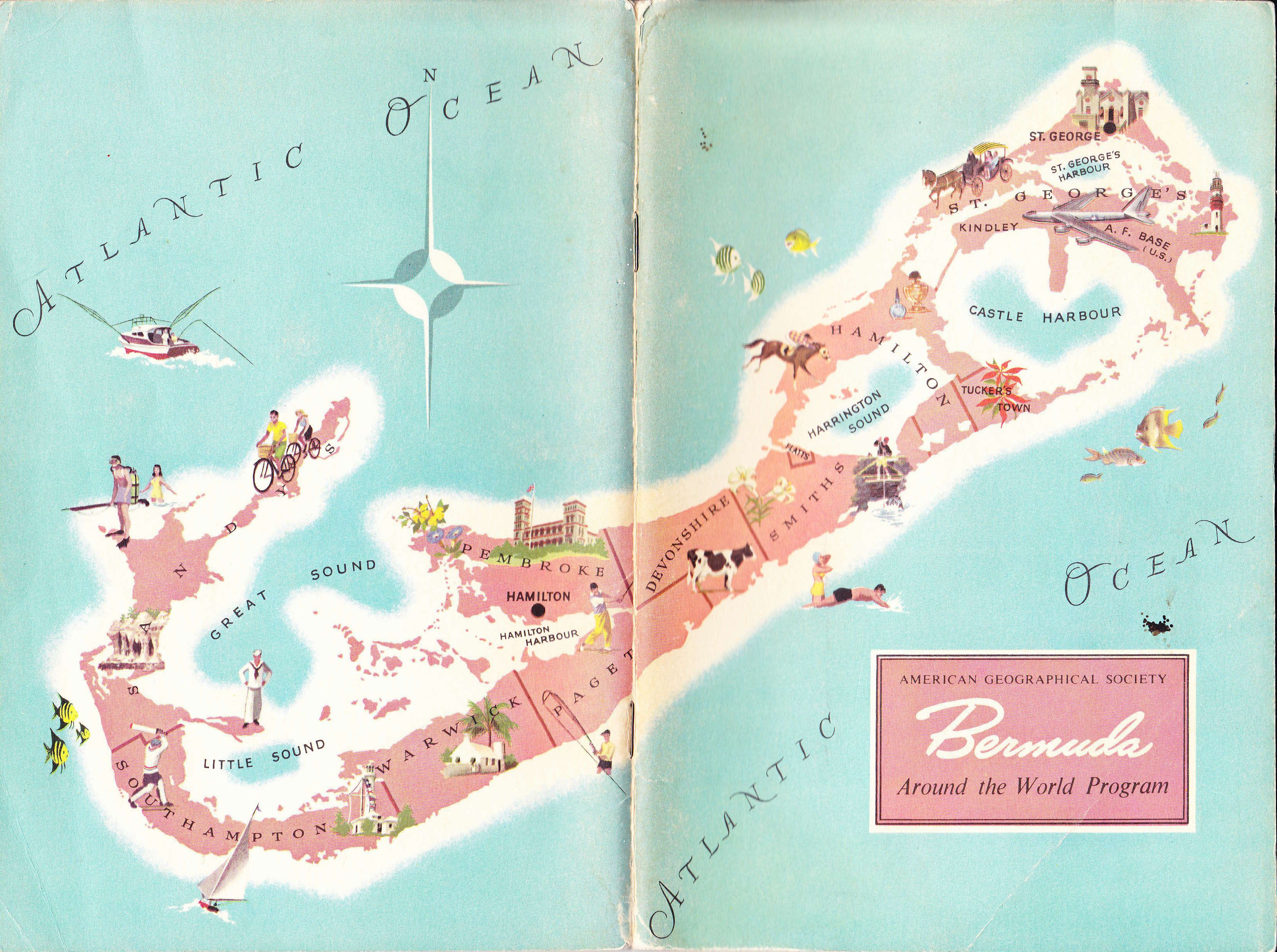 Old Map of Bermuda- can\'t wait to go here in June! | Wayfaring Ways ...