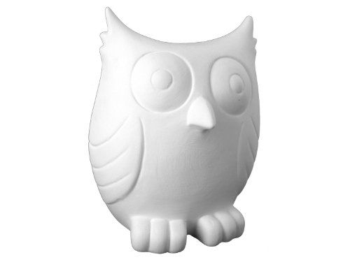 Set of 4 Paint Your Own Ceramic Keepsake The Friendly Owl Bank