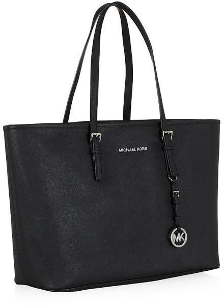 2f479ed3ffbe Michael By Michael Kors Jet Set Medium Travel Tote in Black (jet) - Lyst