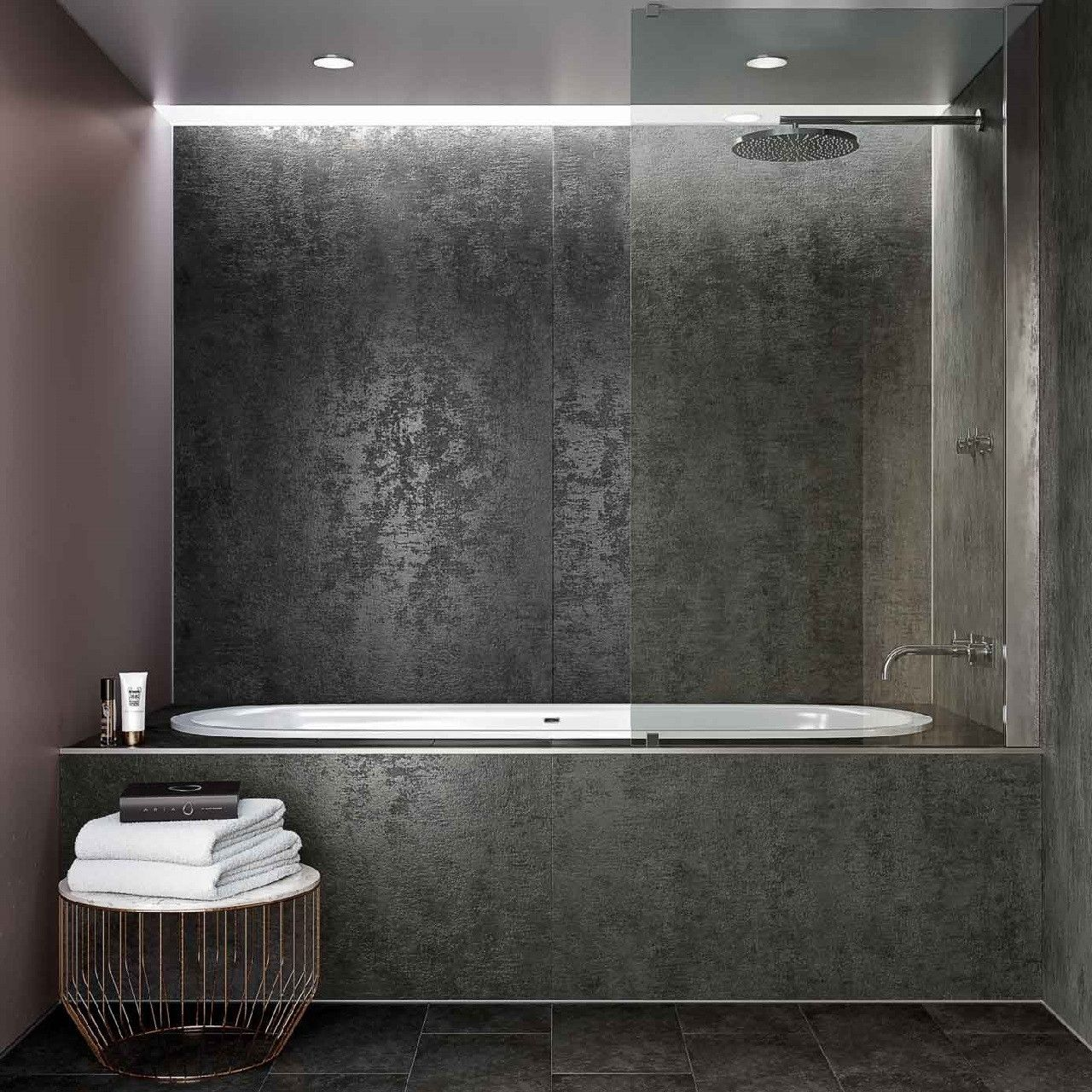 Multipanel Linda Barker Graphite Elements Unlipped Bathroom Wall Panel Bathroom Wall Panels Pvc Bathroom Wall Panels Simple Bathroom