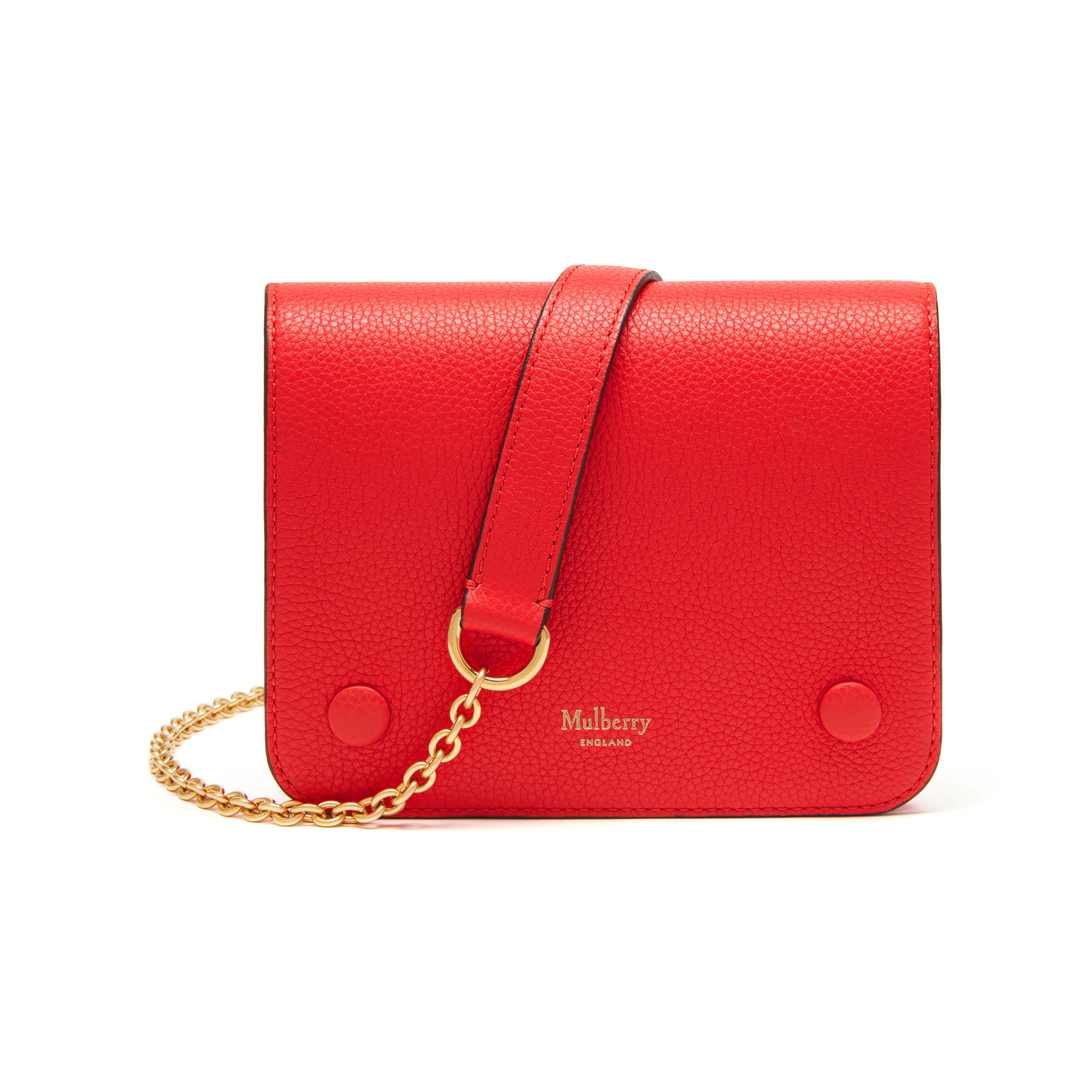 873ad796c7 Shop the Small Clifton in Fiery Red Small Classic Grain Leather at Mulberry.com.  The Small Clifton is a compact