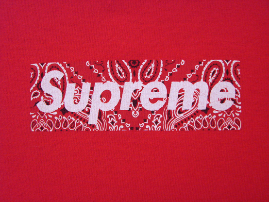 Supreme Paisley Print Box Logo Tee Supreme wallpaper
